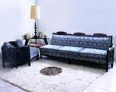 mid century ROCOCO sectional gothic mod hollywood regency french LOUIS XV baroque sofa couch