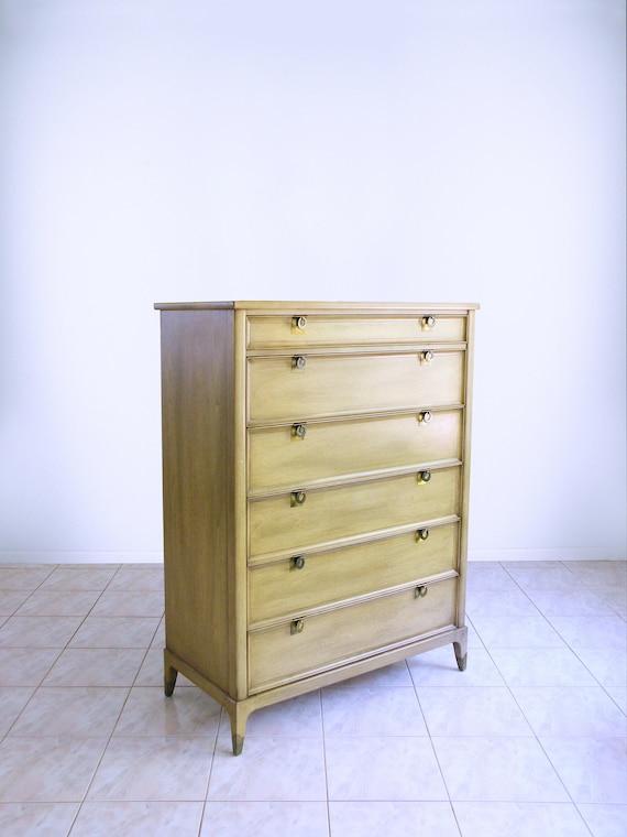 Mid Century Modern Dresser Atomic Danish Highboy By White Etsy