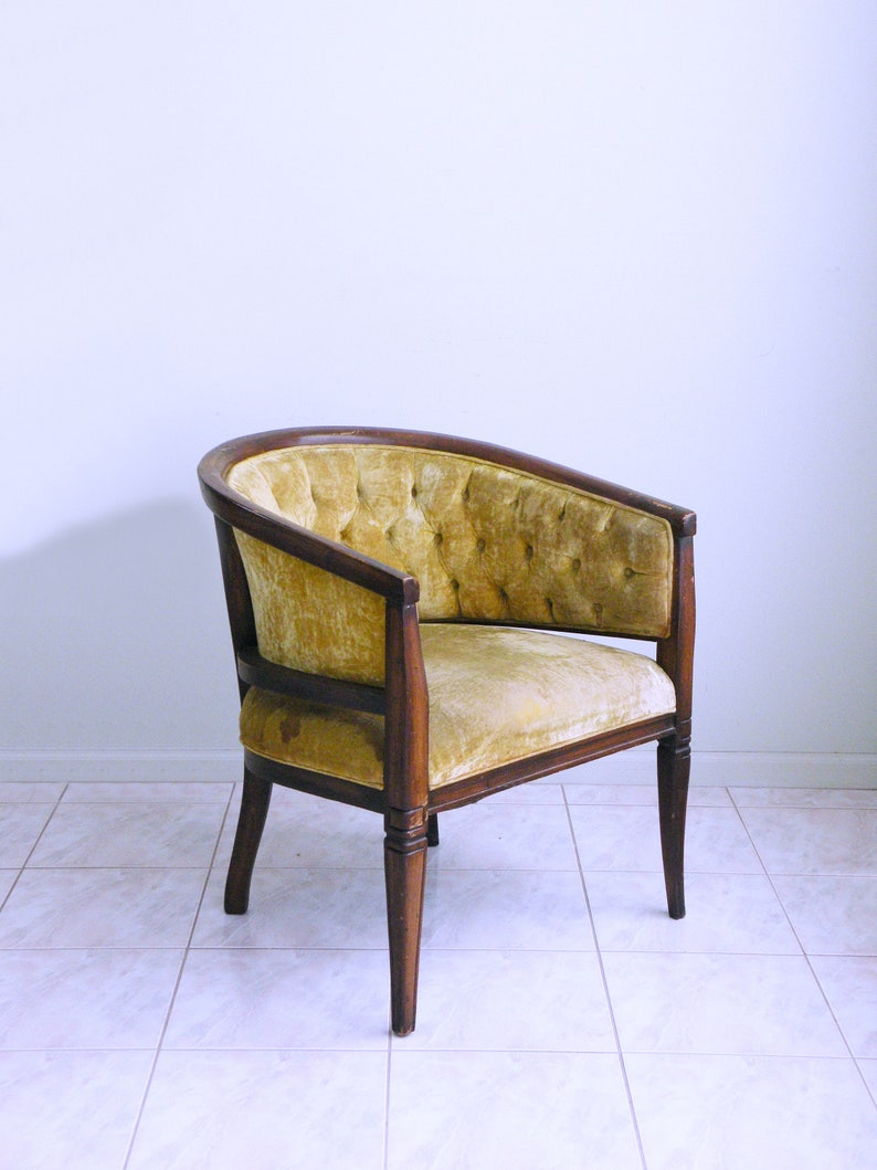 French Provincial Chair >> Mid Century French Provincial Chair Neoclassical Hollywood Etsy