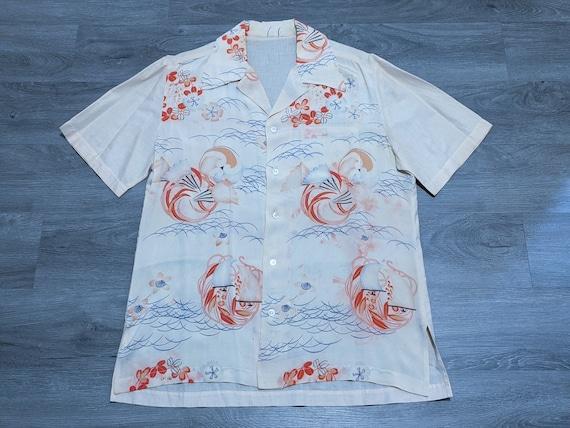 vintage 1930s SILK Hawaiian shirt