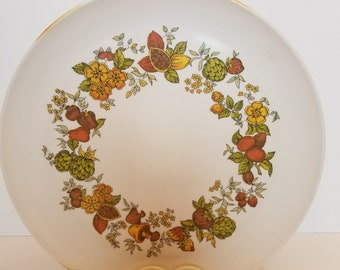 Fruit and vegetable design 10 in. plastic plate