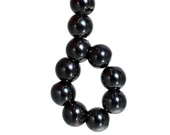 Pces Pierres Semi-Précieuses Loisirs Hématite Rond Perles 6mm Gris 60 Non Mag