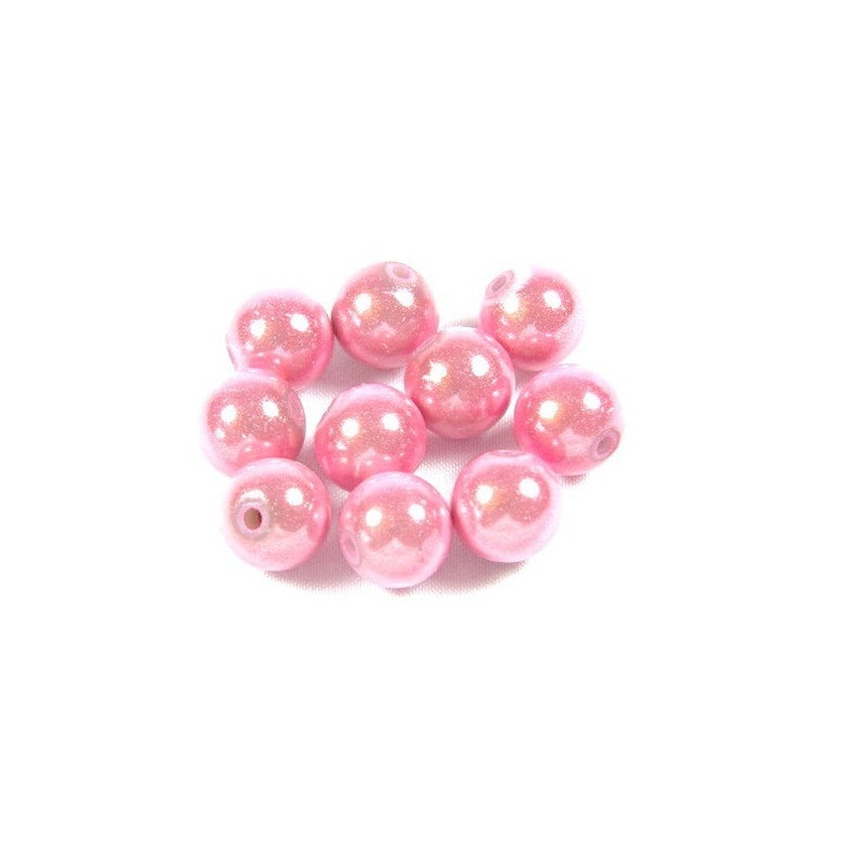 50 miracle pink magic beads 8 mm