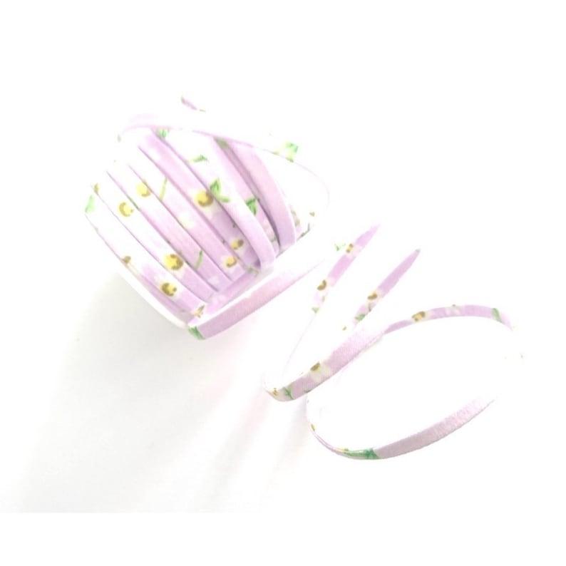Spaghetti flat cord 5mm purple lilac 50 centimeters