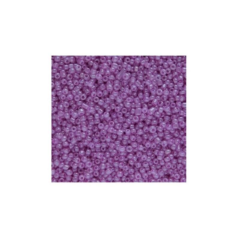 20G 120 purple glass seed beads 2mm