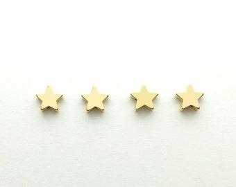 4 pcs Star Charm Jewelry Beading supplies, Craft Supplies Tools, Beads Celestial Beads 4PFS-G