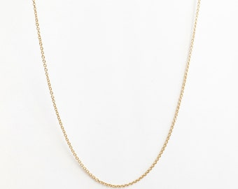 DAINTY chain Necklace - Wholesale Gold plated Chain Finished Cable Chain Lobster Clasp Bulk Chain Findings CHND-G