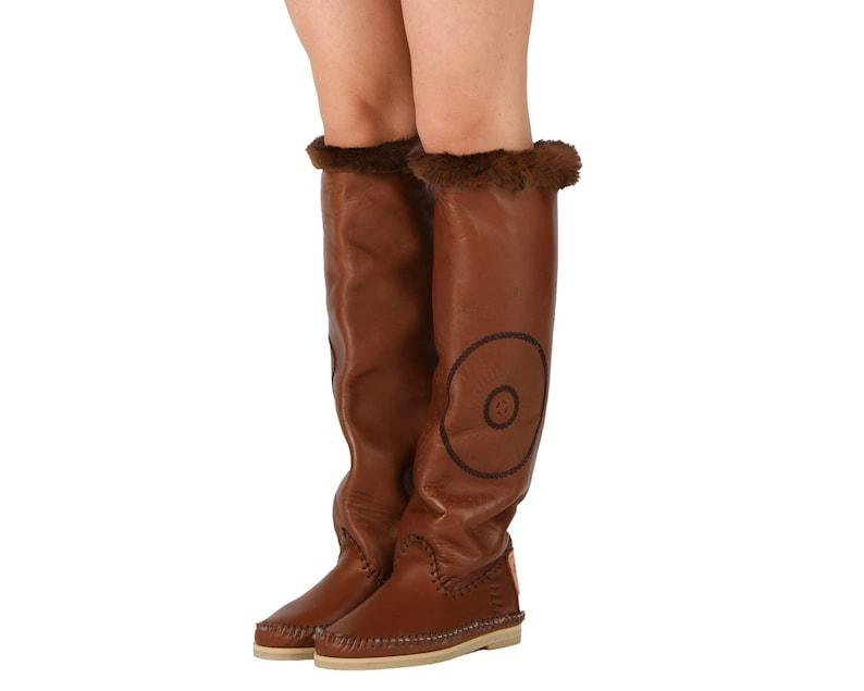 WINTER STAR boot HANDMADE  Womens Moccassins  Leather Moccassins  Boots moccassins  Leather womans boots  Boots women  Women/'s shoes
