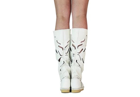 Hand-crafted whait cuero  Mujer cuero  botas    FIORE Mujer moccasins  festival  botas    HIPPI  botas    Grounding  botas    053da8
