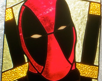 Deadpool, Ironman, Spiderman Superheroes Glass Suncatchers