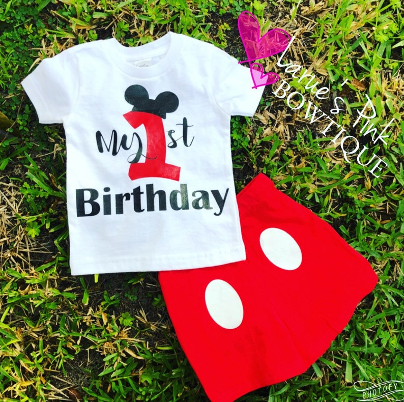 6a6d9b387 Mickey's Smash Cake outift/ available in age ONE or TWO/ | Etsy