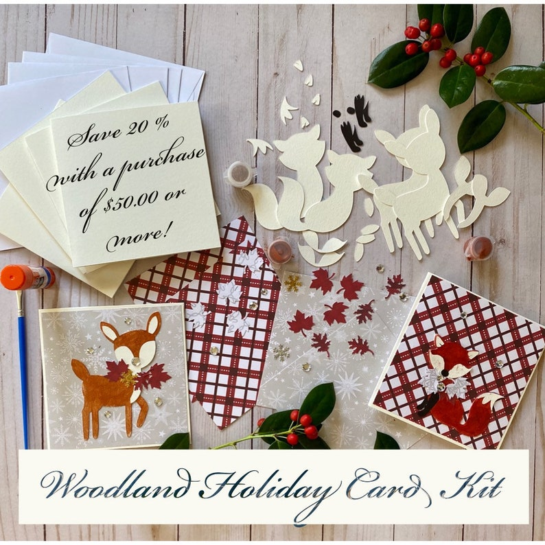 Holiday Card Kit Woodland Creatures image 0