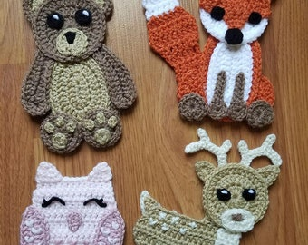 Animal applique etsy