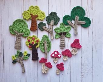 Crochet Applique Etsy
