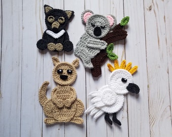 Woodland animals applique pack crochet pattern only forest etsy