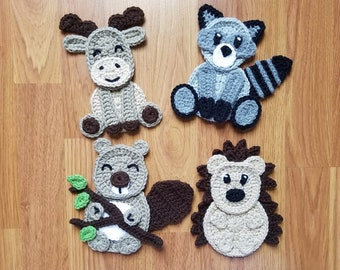 Crochet applique etsy