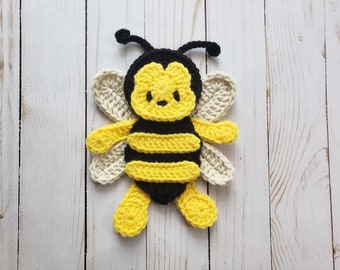 dc8c3f6be94 Bumbly the Bee Applique Pack- Crochet Pattern Only- Bumble Bee- Bee- Honey  Bee- Baby Bee- Spring Bee- Crochet Applique Pattern