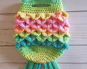 Mermaid Tail Handbag- Crochet Pattern Only