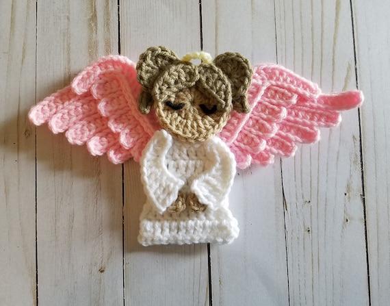 Sweet Angel Applique Crochet Pattern Only Angel Angel Etsy