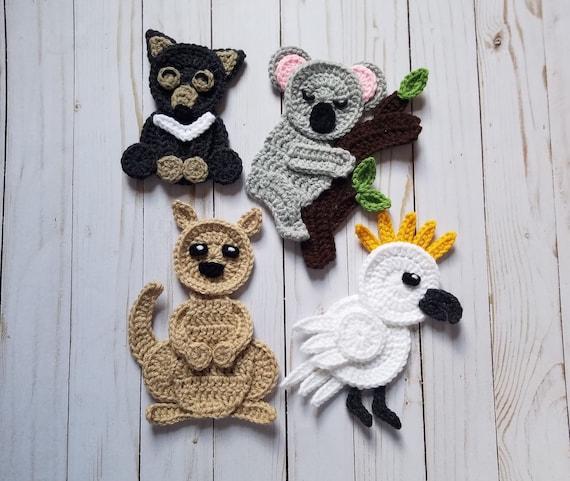 Australian Adventure Applique Pack Crochet Pattern Only Etsy