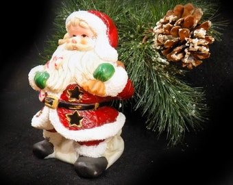 santa clause tea light _christmas santa tea light holder christmas candle holder christmas santa decor christmas decorations sad 4
