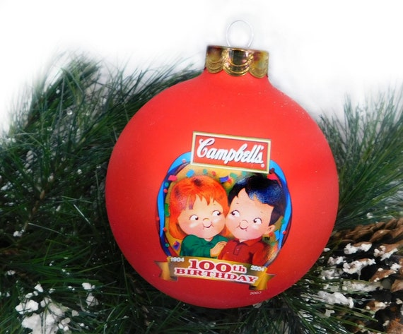 image 0 - Campbell's Christmas Ornament Campbell Soup Kids Ornament Etsy