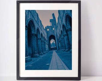 Kirkstall Abbey Blue / Leeds art / Kirkstall Photography / Leeds Photography / Yorkshire photograph