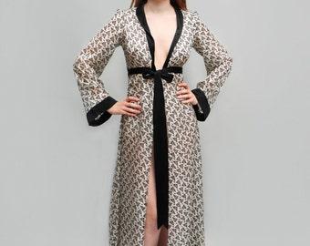 Pure Silk Long Robe Trefle Print 0e1b4b47e