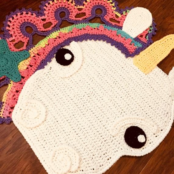Licorne Tapis Au Crochet