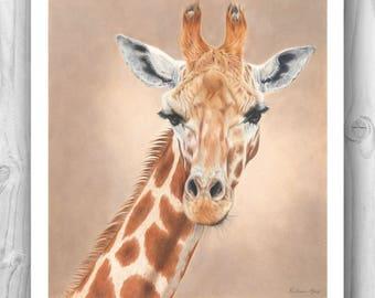 "Giclee Limited Edition Print - ""Serenity"" giraffe"