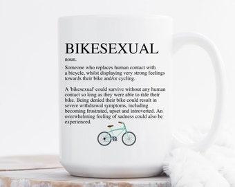 Bicycle Mug, Bicycle Gifts, Cycling Gifts, Mountain Bike Gift, Bike Lover Gift, Mountain Bike Mug, Cycling Mug, Bikesexual, Bike Mug