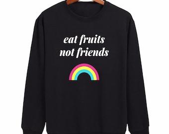 Friends not food shirt, vegan shirt, vegan tshirt, vegetarian shirt, vegetarian t shirt, animal rights shirt, vegan sweatshirt