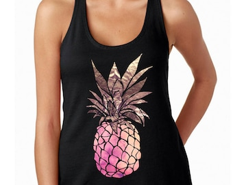 Pineapple shirt for women, be a pineapple shirt, be a pineapple tank top, tumblr shirt, workout tank, vacation shirt, pineapple shirt adult