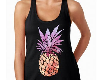 Pineapple shirt for women, be a pineapple tank top, tumblr shirt, workout tank, vacation shirt, pineapple shirt adult, be a pineapple stand