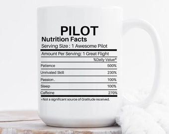 Pilot Gifts Aviation For Him Mug Boyfriend Birthday Dad Retirement Gift