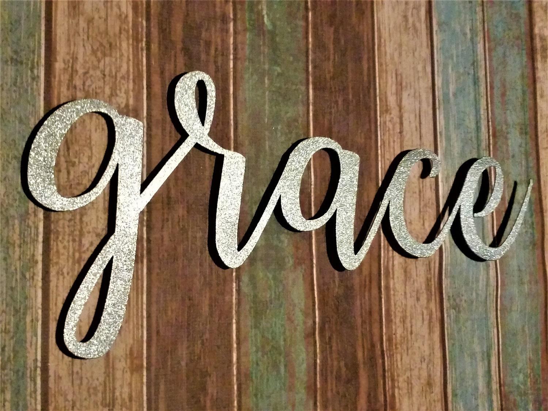 Grace Sign, Farmhouse Wall Decor, Grace Wall Art, Rustic Word Sign, Metal  Words, Farmhouse Sign, Grace Wall Decor, Word Signs, Word Wall Art