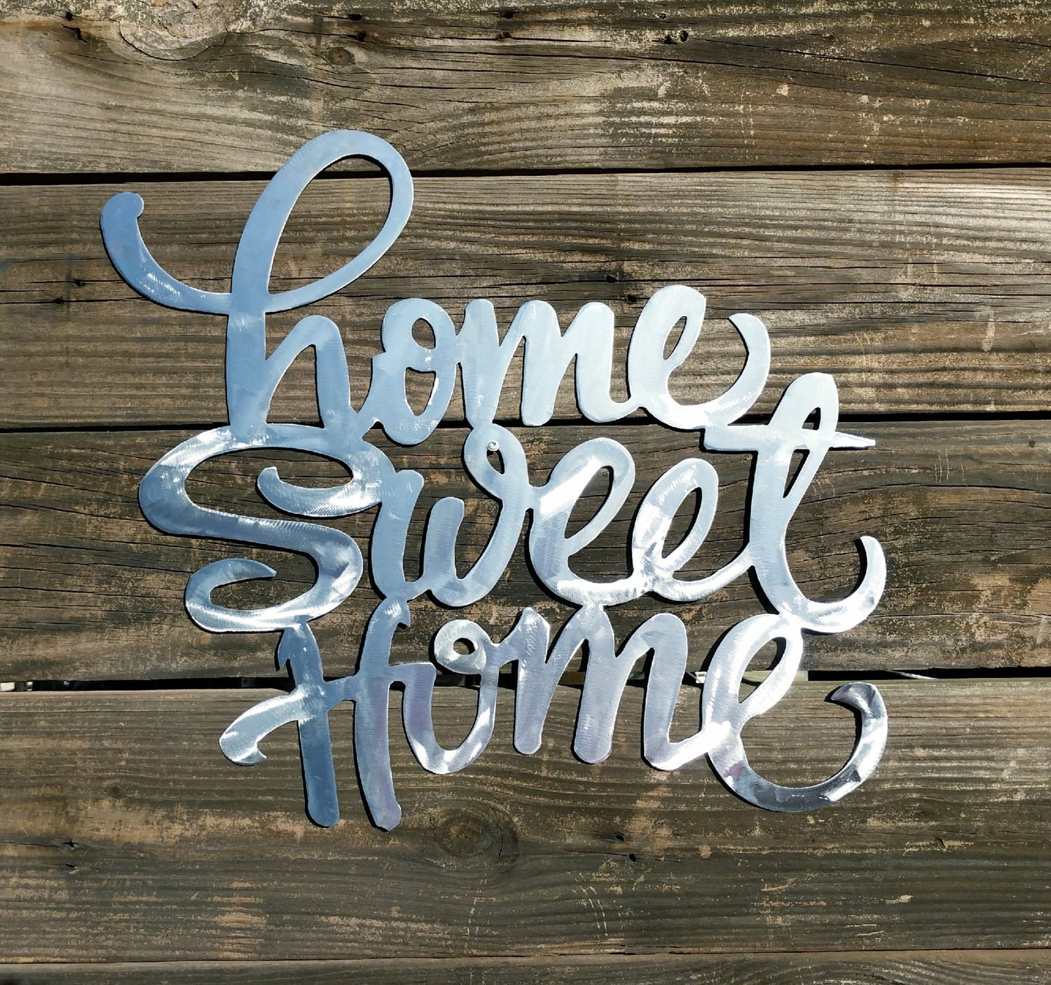 Home Sweet Home Sign Farmhouse Wall Decor Shabby Chic Rustic Sign