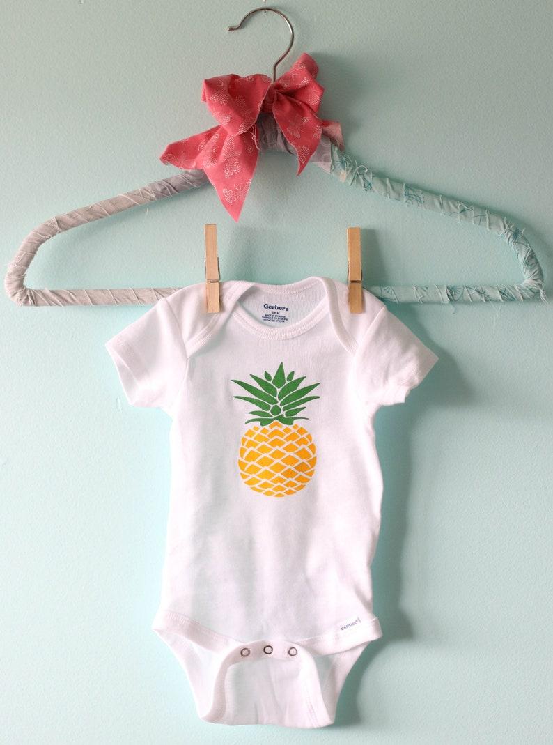 28ed22117c03 Pineapple baby t-shirt Hawaiian baby gift Hawaiian shirt | Etsy