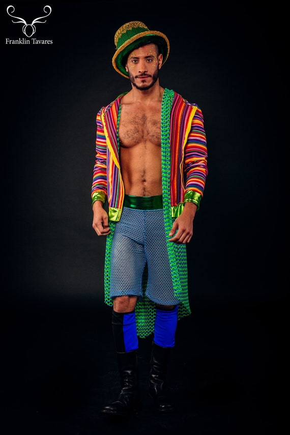 Gay man celebrating diversity with pride stock image