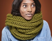 Giant Infinity Scarf Chunky Knit Circle Scarf  / Choose from 12 Colors // THE BIG SCARF Free Shipping Holiday Gifts for Women