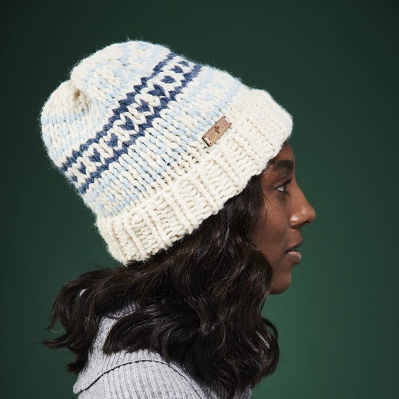 613b4ad7bbe Fair Isle Hat Women s Winter Hat Double Brim   Customize