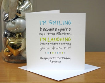 Personalised Funny Birthday Card For Brother