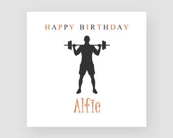 Gym Birthday Card Etsy