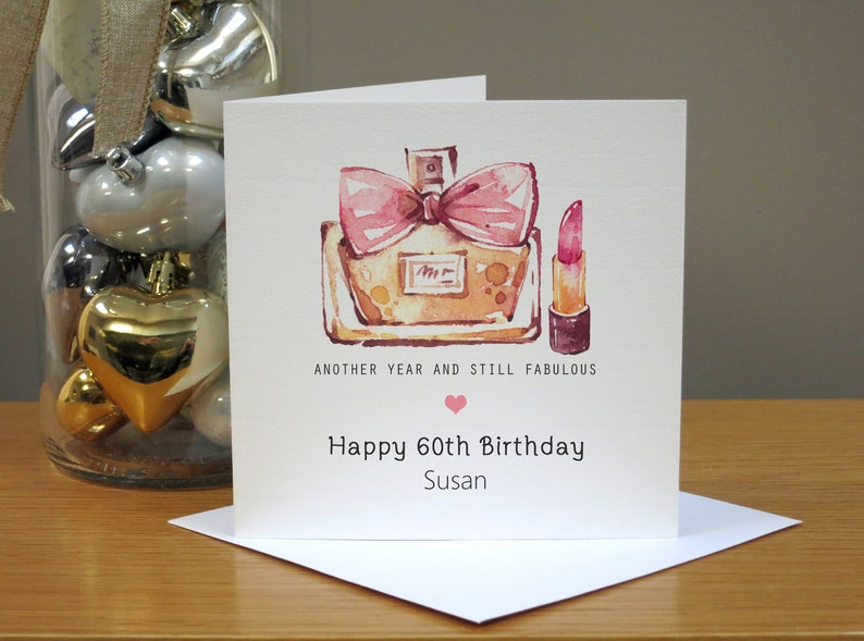 14c6449e995 Personalised 60th Birthday Card Sixtieth Birthday Card