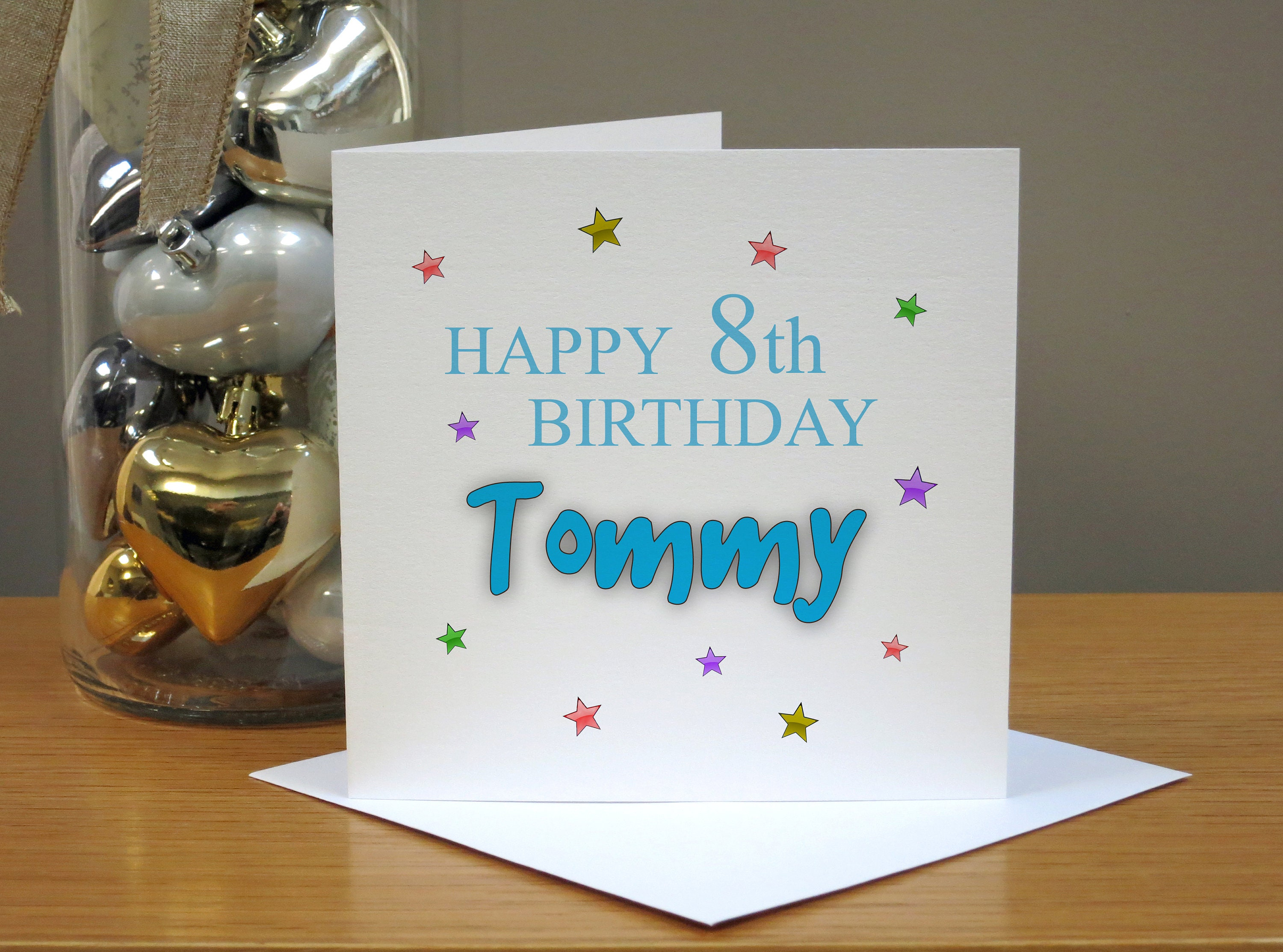 Personalised 8th Birthday Card Eighth Age 8