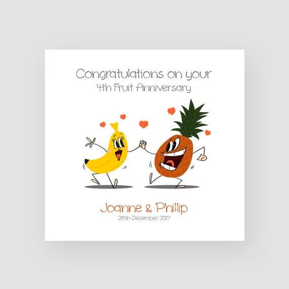 Flowers /& Fruit Anniversary Card