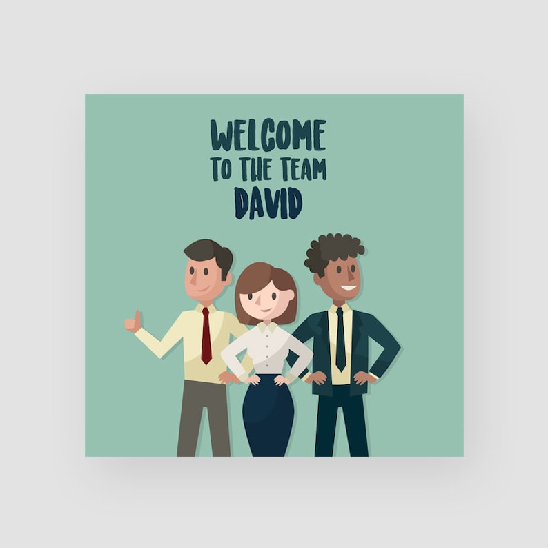 Personalised New Job Card Congratulations New Role Good Luck Colleague Moving Job For Her For Him Welcome To The Team
