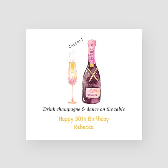 Personalised 30th Birthday Card Thirtieth