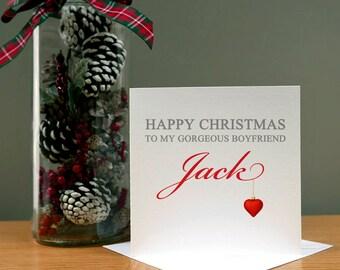 Personalised Boyfriend/Husband/Fiancé Christmas Card - Xmas Card - For Him - Christmas Husband - Christmas Male - Christmas Boyfriend