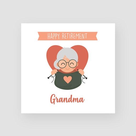 Personalised Handmade Retirement Card For Her Grandma Friend Flowers Wheelbarrow